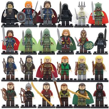 Legoedly The Hobbits Lord of the Rings Figure Wraith Rider Rohan Bowman Mordor Orc Boromir Single Sale Building Blocks Set Toys