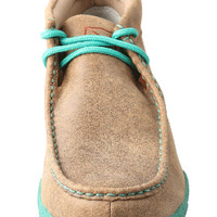 Women's Driving Moccasin – Bomber/Turquoise