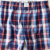 AEO Men's Plaid Boxer (Bright Neon Red)