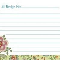CR Gibson 4 x 6-Inch Recipe Cards, Raymond Waites Piccadilly Design, 40 Count