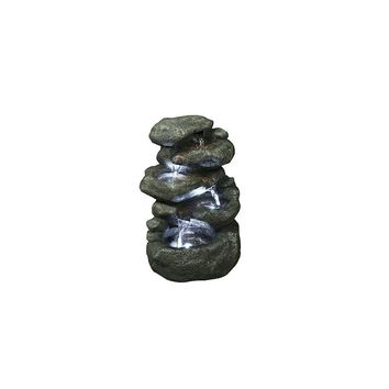 Hi-Line Gift Ltd. Fiber and Resin Rocks Fountain