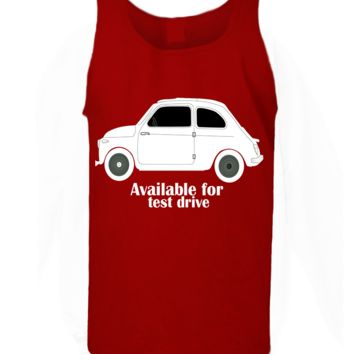 'Taxi Available For Test Drive' Funny Slogan Men Women Unisex Tank Top Vest Gym Summer Singlet (82) Red