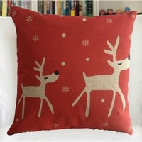 Fashion Cotton Linen Square Decorative Throw Pillow Cover Colored D...