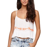 LA Hearts Pop Embroidered Edge Top - Womens Shirts -