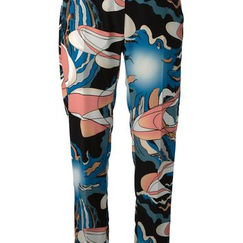 MM6 By Maison Martin Margiela abstract print trousers