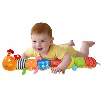 1pcs Baby Toys Musical Caterpillar Educational Toys With Ring Bell Stuffed Plush Animal Baby Rattles