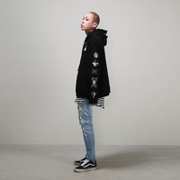 Mens Oversized Multi Embroidered Hoodie at Fabrixquare