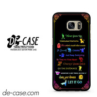 Disney 12 Lesson All Color Center Camera DEAL-3282 Samsung Phonecase Cover For Samsung Galaxy S7 / S7 Edge