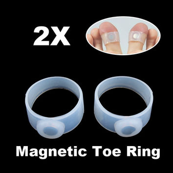 Slimming Lose Weight Magnetic Toe Ring Fashion Women Foot Care Tool Silicone Massage Foot Keep Fit Product for Women