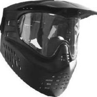 GXG Paintball Stealth Predator Skull Mask Paintball Goggle System - Black (ASTM Approved)