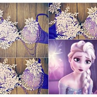 Purple Elsa Rave Bra