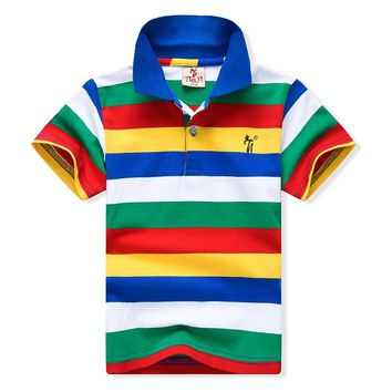 2-7yrs Baby Boys Polo Shirt New 2017 Summer Clothes Children Clothing Kids  Cotton Polo 6196e1f34