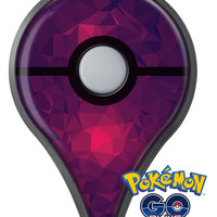 Fuscia Geometric Triangles Pokémon GO Plus Vinyl Protective Decal Skin Kit