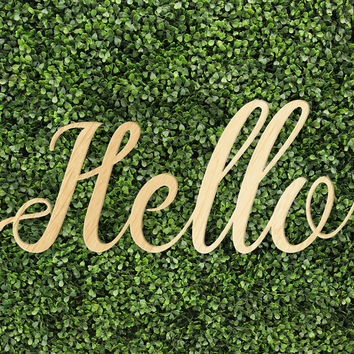 Hello Sign Printed and Unprinted Signs Trendy Unique