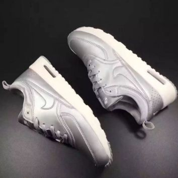 NIKE Women Men Running Sport Casual Shoes Sneakers Fashion Silver
