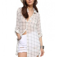 Lush Tunic Button Down