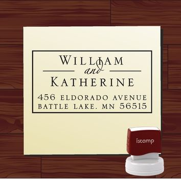 Custom Personalized  SELF INKING Return Address Rubber Stamp - STYLE 1292 cute wedding gift