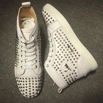 Cl Christian Louboutin Louis Spikes Style #1841 Sneakers Fashion Shoes