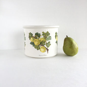 Very Rare Portmeirion Pomona Queen of Sheba Crock, Vintage 1982 Portmeirion Pomona Queen of Sheba Storage Jar or Crock