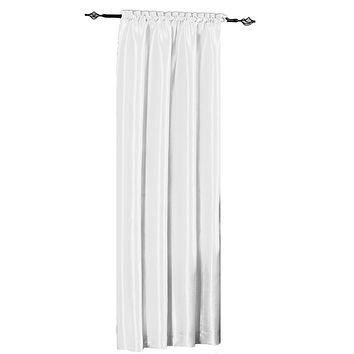 WHITE 42x96 Soho Waterfall Window Treatment