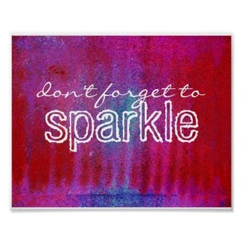 don't forget to sparkle poster red and purple