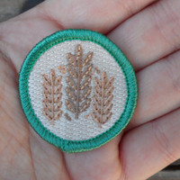 Grain 'Craft Beer' Scout-Style Merit Badge for Foodies and Chefs