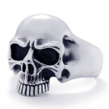 Stainless Steel Skull Cuff Bangle