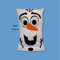 Olaf Fleece Pillowcase Pattern, Frozen