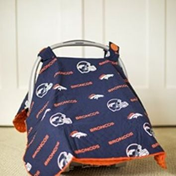 Carseat Canopy NFL Denver Broncos Baby Infant Car Seat Cover