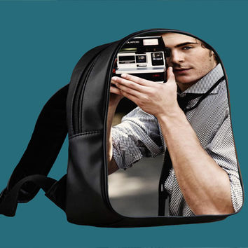 Zac Efron Camera for Backpack / Custom Bag / School Bag / Children Bag / Custom School Bag *