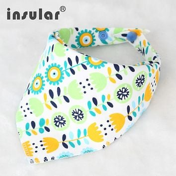 Cotton Newborn Baby Bibs Cute Feeding Bib Baby Nursing Bandana Burp Cloth For Girls And Boys Double Side Baby Scarf