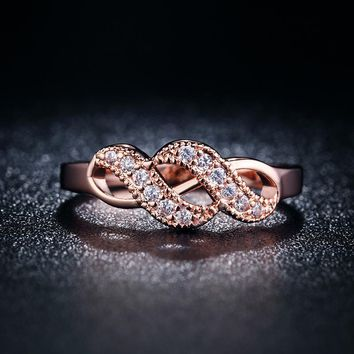 Vintage Rose Gold 585 Color Zircon Jewelry Rings For Women Wedding Ring Anillos Bague Bijoux Anel Feminino Aros QK004