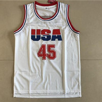Mens USA Basketball Jerseys 45 Donald Trump Jersey Stitched White Shirt Uniform 2016 Commemorative Edition Mesh For Man Size S-XXXL
