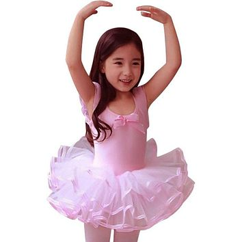 2017 Lace Ballet Dance Dress For Girls Kids Party Ballet Tutu dress Children Ballerina Dancewear Princess Ballet Costumes PY8