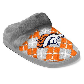 Denver Broncos Women's Argyle Slippers