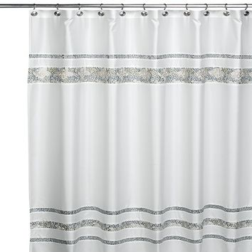 CroscillR Spa Tile Fabric Shower Curtain