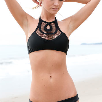 Bettinis - Crochet Halter Top / Black