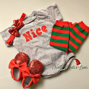 Baby Girls or Boys Christmas Onesuit, Boys or Girls Christmas Tshirt