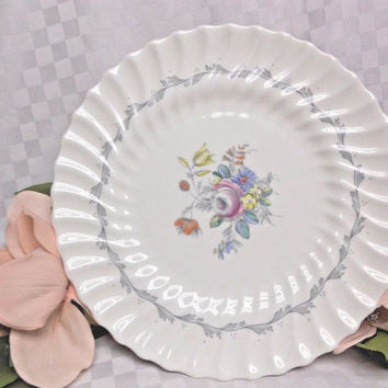 Royal doulton China Dinnerware Chelsea Rose Pattern #4801 Footed Cake Plate