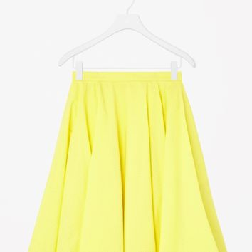 Perforated cotton skirt