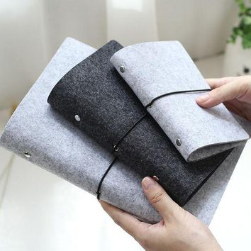 DCCKU7Q Felt shell  fabric notebook