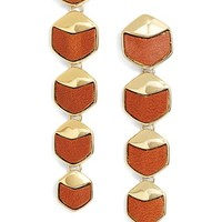 Women's Rachel Zoe 'Alana' Leather Linear Earrings - Gold/