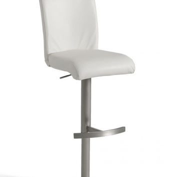 Modrest Modern White Eco-Leather Bar Stool VGCBT1206-WHT