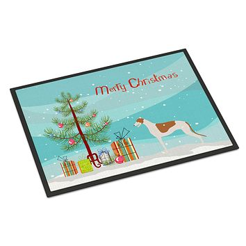 Greyhound Merry Christmas Tree Indoor or Outdoor Mat 24x36 BB2923JMAT