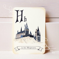 Harry Potter Inspired Alphabet Cards