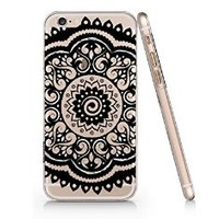 Henna Pattern Clear Plastic Phone Case for Iphone 6