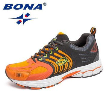 ONETOW BONA New Classics Style Men Running Shoes Lace Up Mesh Sport Shoes Outdoor Walking Joo