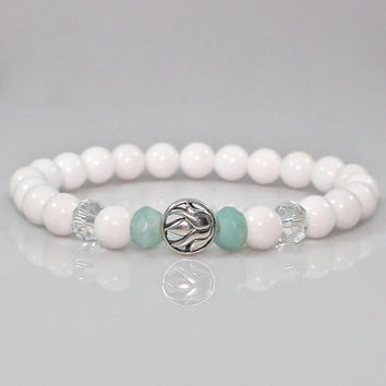 Women's Sterling Silver Lotus Flower Bracelet