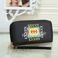 Perfect Gucci Women Fashion Leather Zipper Wallet Purse