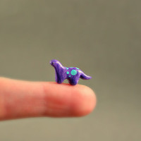 Micro Dinosaur  Hand Sculpted Miniature by MadeWithClayAndLove